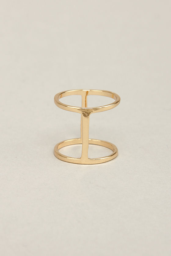 Suspicious Shines Gold Knuckle Ring at Lulus.com!