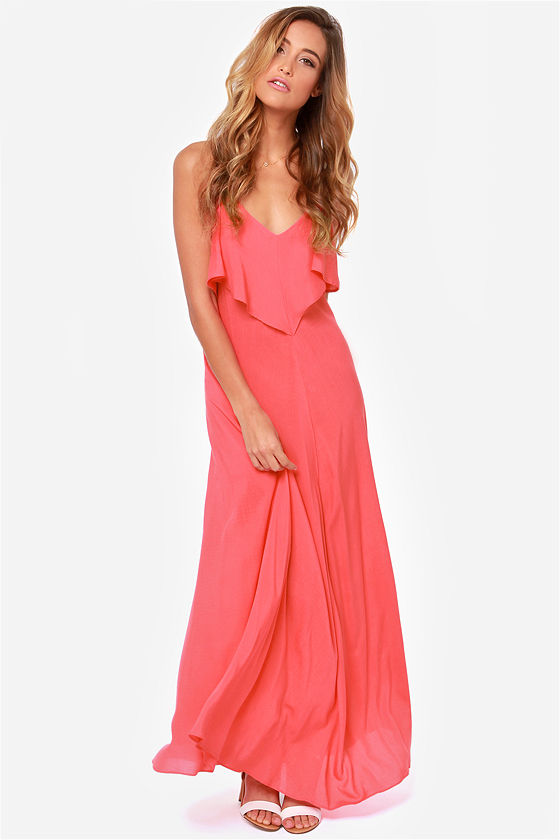LULUS Exclusive Silent Lagoon Pink Maxi Dress at Lulus.com!