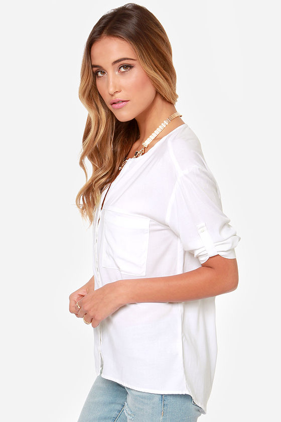 Stay 'til Sunset Ivory Top at Lulus.com!