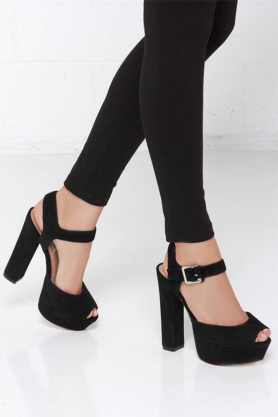 f859a2b64f5 Sexy Black Heels - Platform Heels - Platform Sandals -  99.00