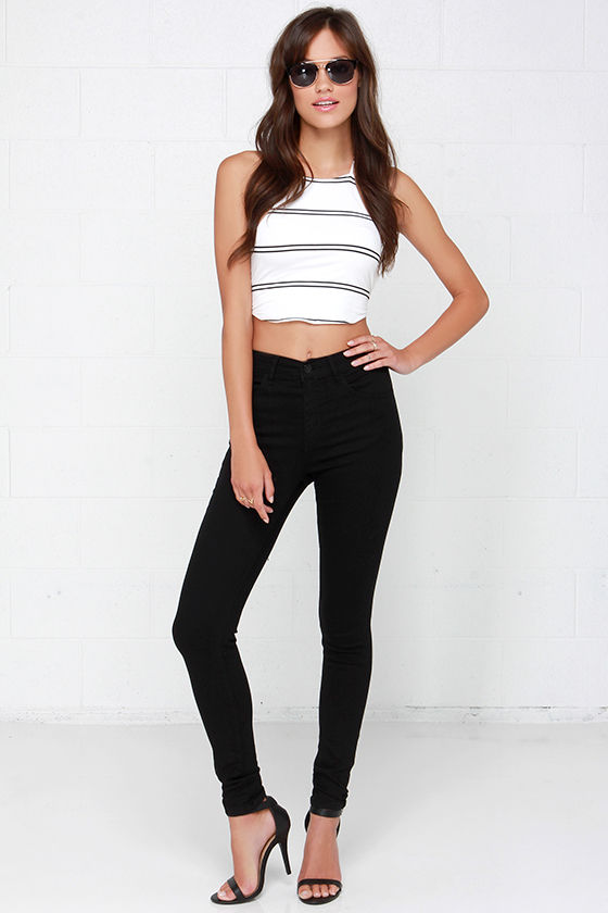 712f355e26d Cool High-Waisted Jeans - Black Jeans - Skinny Jeans - $66.00