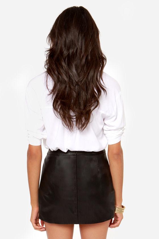 black skirt envelope skirt high waisted skirt