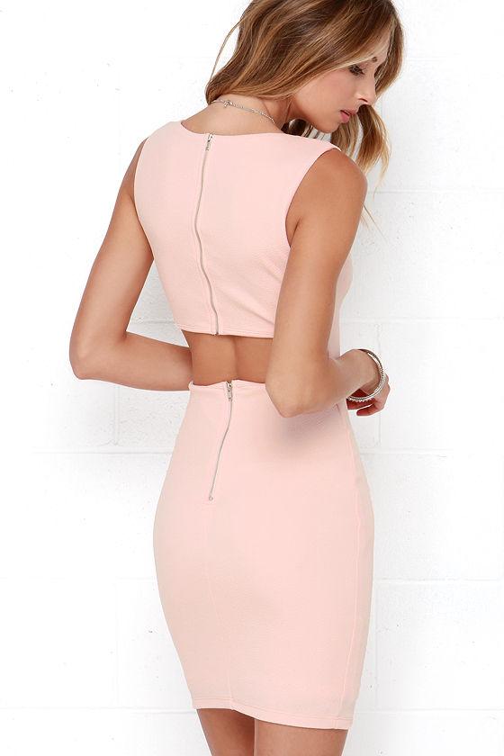 0ff4f3bf2340 Sexy Blush Pink Dress - Backless Dress - Bodycon Dress -  48.00