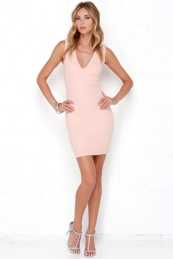 4c24d0e6979f Sexy Blush Pink Dress - Backless Dress - Bodycon Dress - $48.00