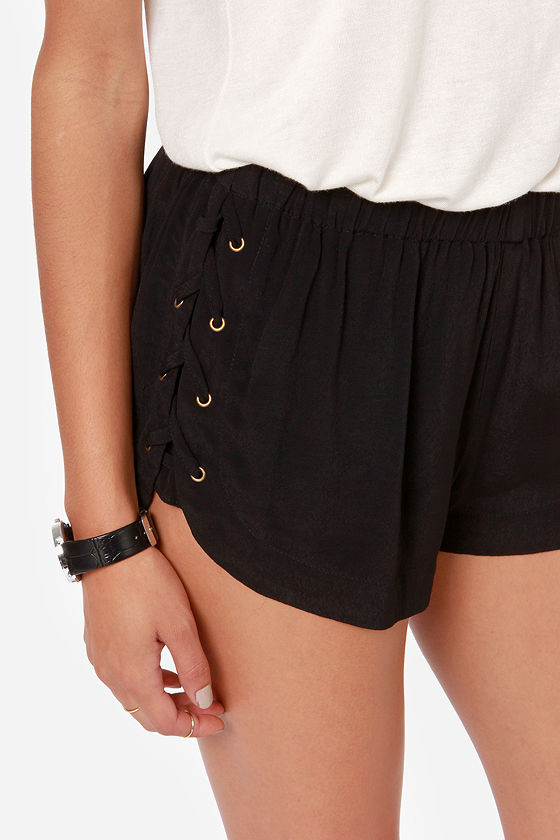 Electric Soul Black Shorts at Lulus.com!