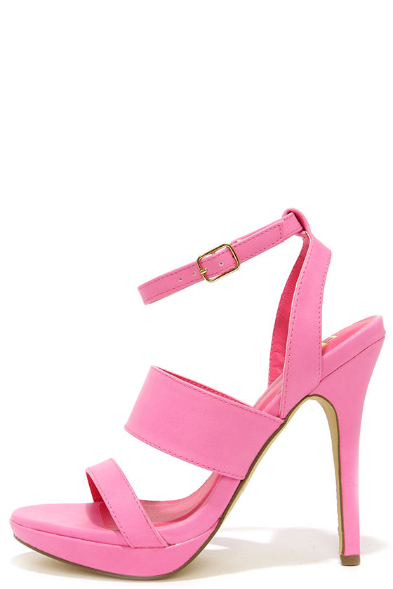 8203ba2f3f34 Cute Pink Heels - High Heel Sandals -  23.00