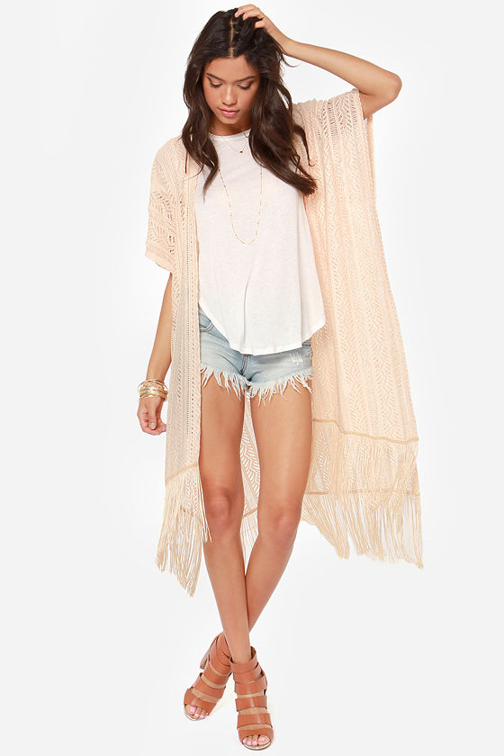 Free to Roam Beige Kimono Top at Lulus.com!