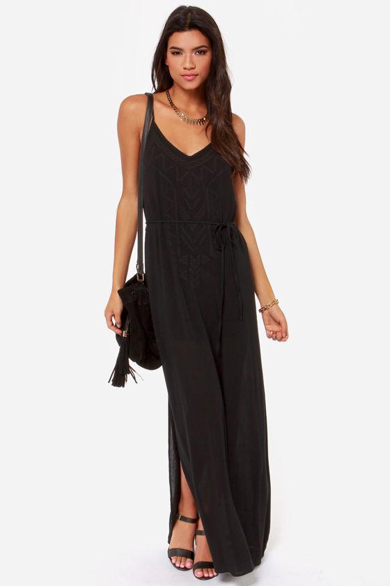 Mai Tai-ed Up Embroidered Black Maxi Dress at Lulus.com!