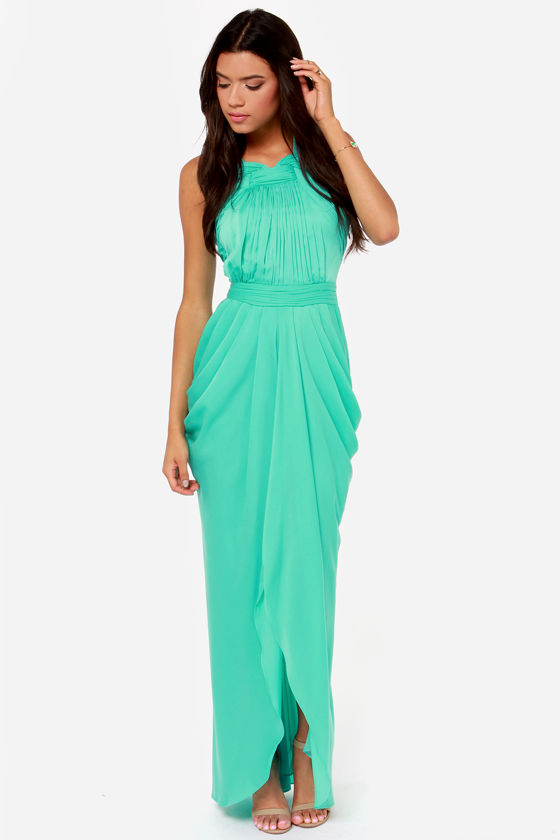Bariano Grace Sea Green Maxi Dress at Lulus.com!