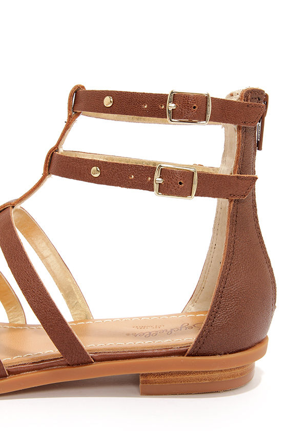 Seychelles Aim High Whiskey Leather Gladiator Sandals at Lulus.com!