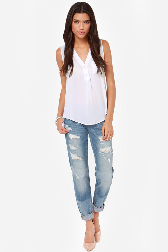 Adore You Ivory Tank Top at Lulus.com!