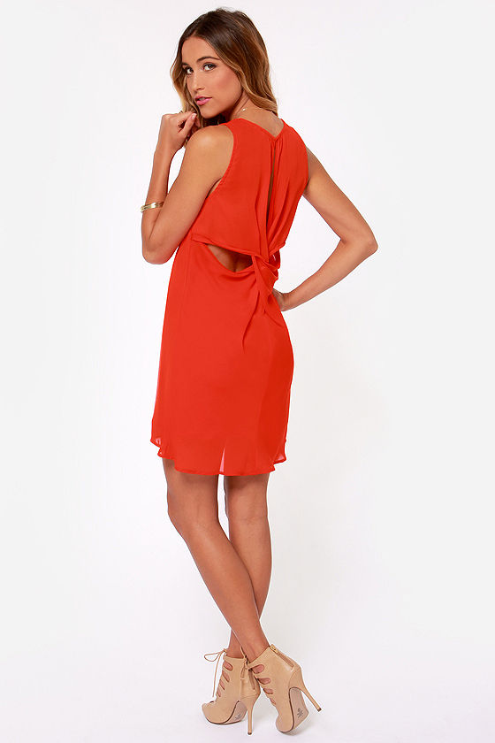 Twist Connections Red Shift Dress at Lulus.com!