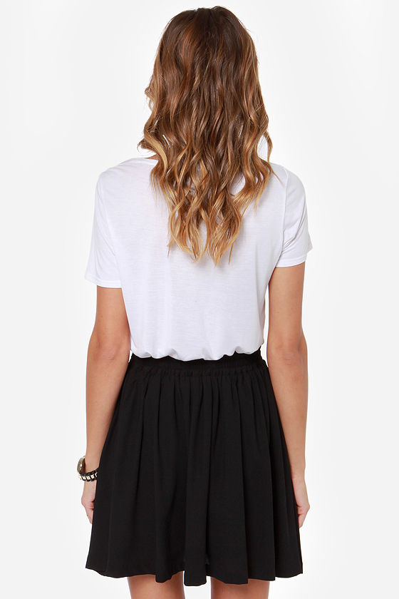 Go Fight Win! Black Skirt at Lulus.com!