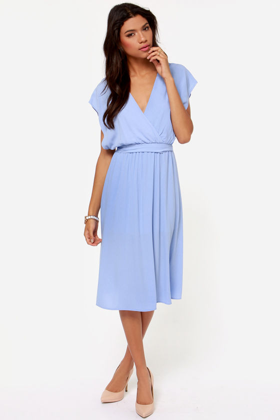 Season's Sweetings Periwinkle Midi Dress at Lulus.com!