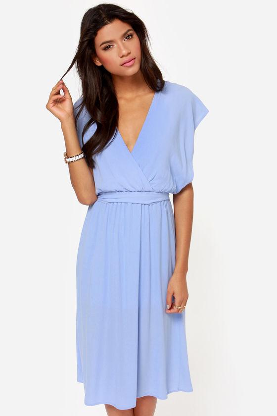 b15ec5892e Lovely Lavender Dress - Midi Dress - Short Sleeve Dress -  49.00