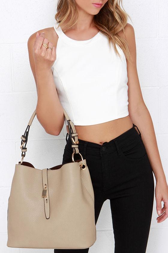 f275e39a93 Chic Taupe Purse - Taupe Handbag - Vegan Leather Purse -  36.00