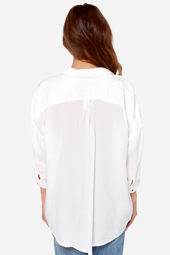 Boyfriends Forever Ivory Button-Up Top at Lulus.com!
