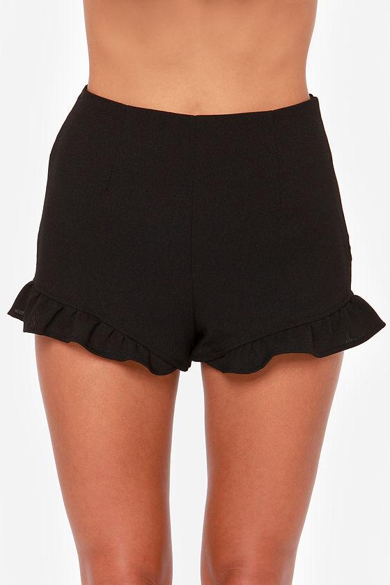 Feeling Spontaneous Black Shorts at Lulus.com!