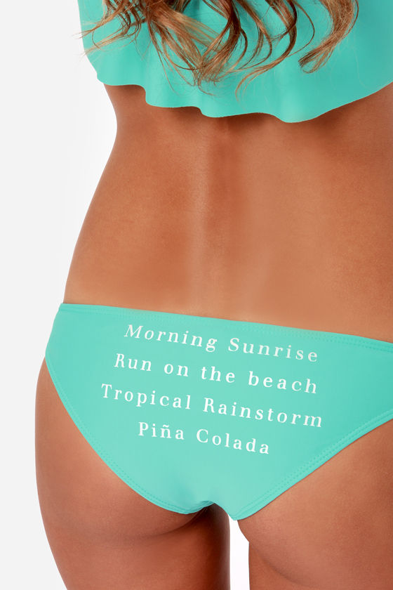 Wildfox Goldie Morning Sunrise Turquoise Bikini at Lulus.com!