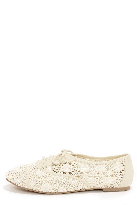 833d67b7790 Cute Lace Shoes - Lace-Up Flats - Lace Flats -  23.00