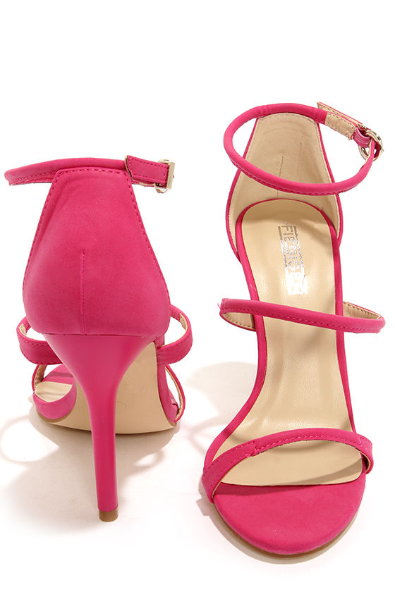 6684e9c655a Fiebiger J'Adore Pink Ankle Strap Heels