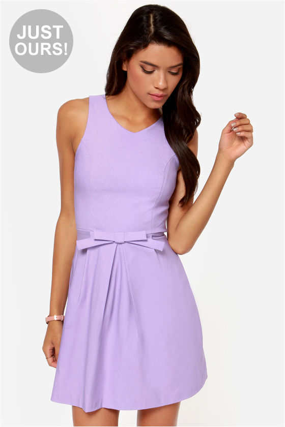 Pretty Lavender Dress - Fit and Flare Dress - $44.00