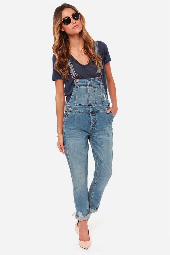 0faabaec888 Blank NYC All for One - Distressed Overalls - Denim Overalls -  103.00