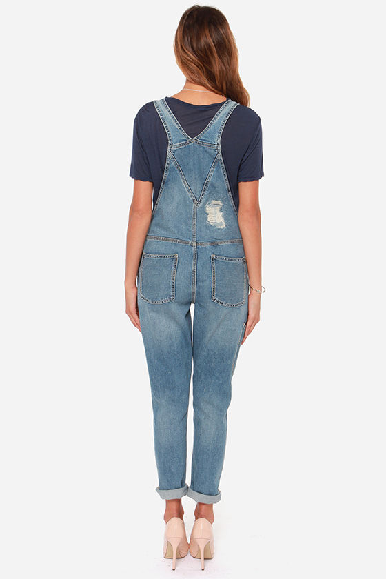 Blank NYC All for One Distressed Overalls at Lulus.com!