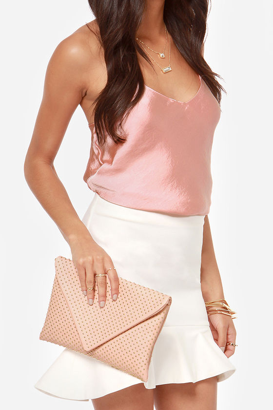 Studs-titute Teacher Peach Envelope Clutch at Lulus.com!