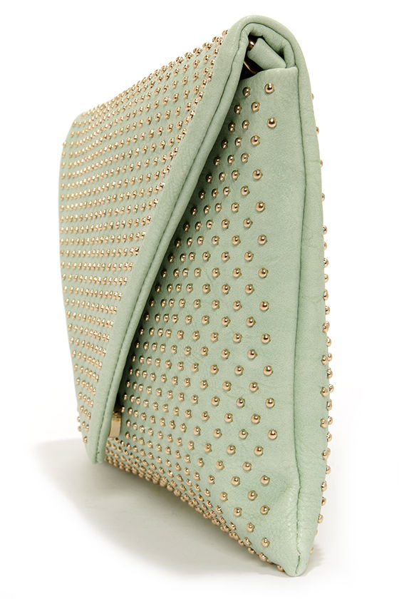 Studs-titute Teacher Mint Envelope Clutch at Lulus.com!