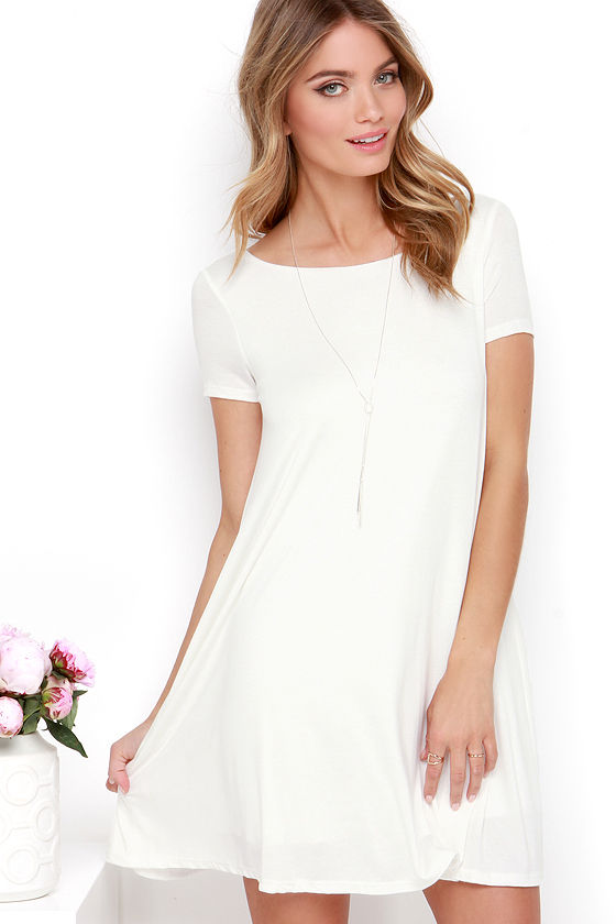 Thank You V Much Ivory Backless Swing Dress 3