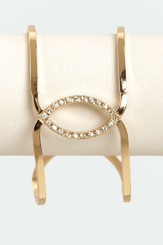 Cuffington Post Gold Cuff at Lulus.com!
