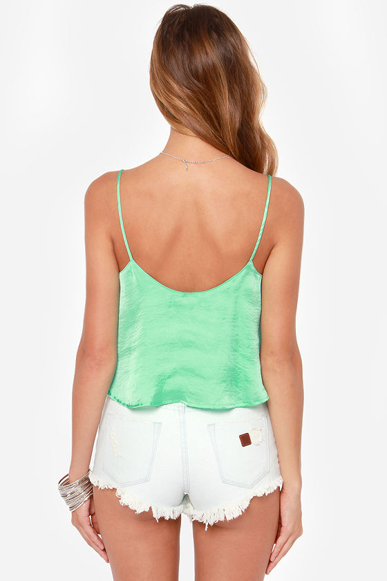 Queen of the Cropped Mint Crop Top at Lulus.com!