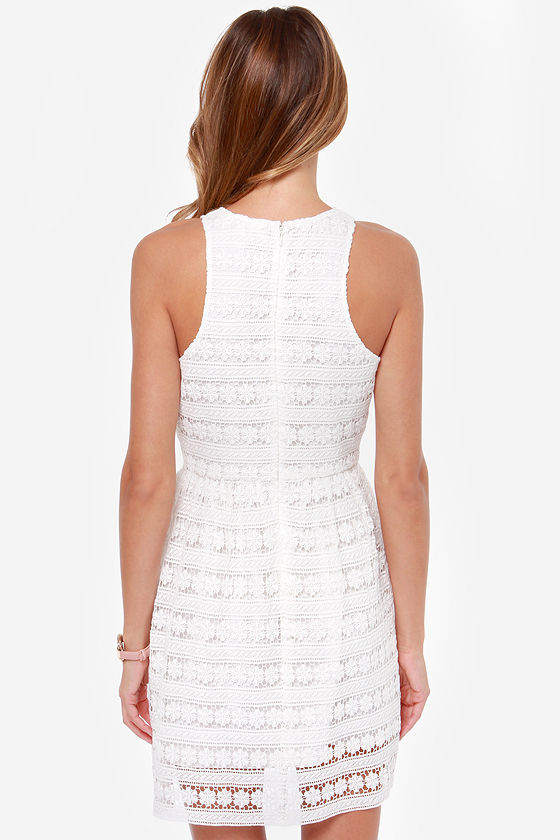 BB Dakota Andree White Lace Dress at Lulus.com!