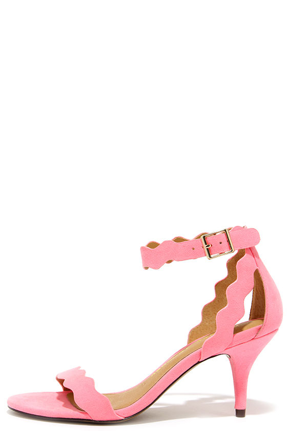 Pretty Pink Heels - Kitten Heels - Dress Sandals - $69.00