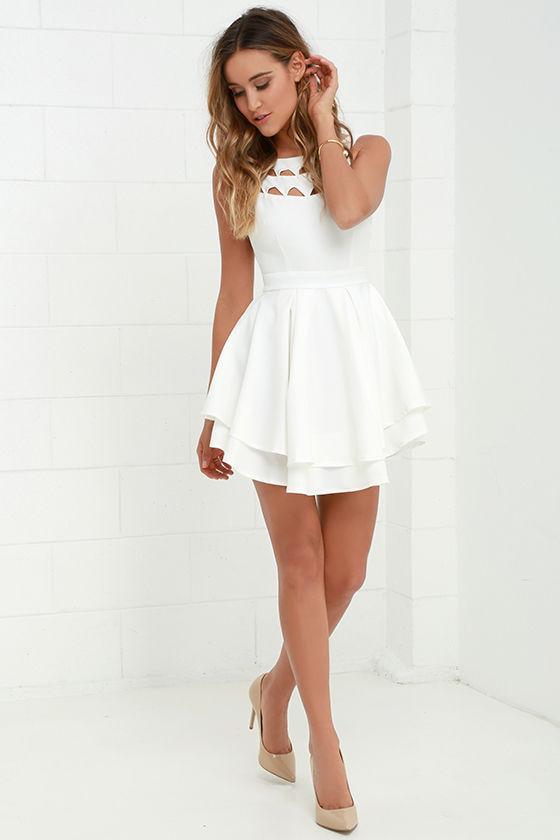 Flirting with Danger Cutout Ivory Dress 1