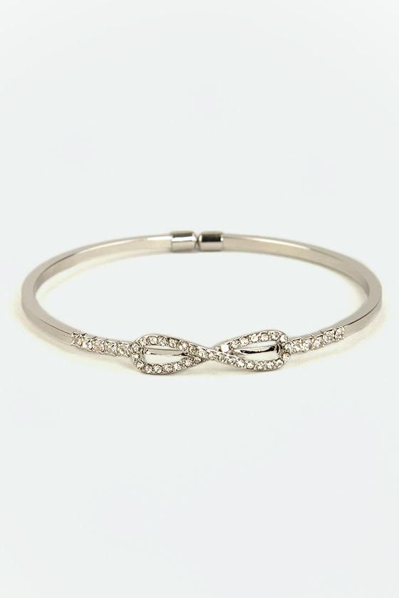 Forever Embedded Silver Rhinestone Bracelet at Lulus.com!