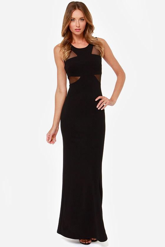 3f5de66a9c8f3 Sexy Black Dress - Maxi Dress - Cutout Dress -  38.00