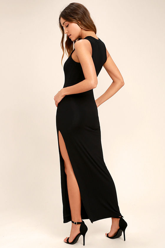 Black Dress - Maxi Dress - Sleeveless Dress - $40.00
