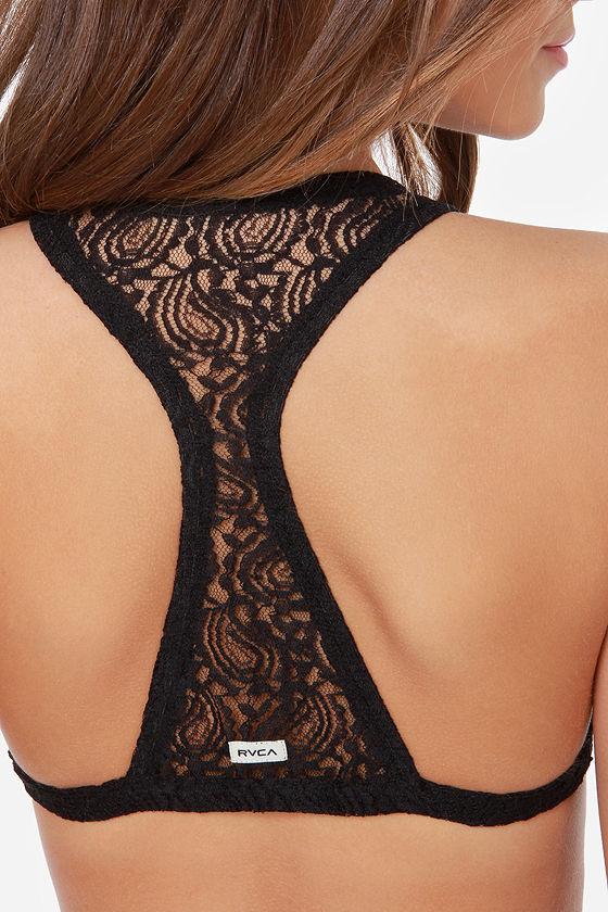 RVCA Solace Black Lace Bralette at Lulus.com!