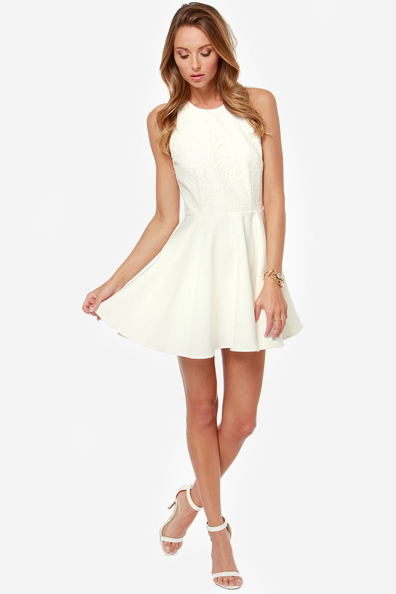 Keepsake Almost Over Ivory Lace Dress at Lulus.com!