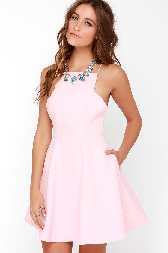 Keepsake Restless Heart - Pretty Light Pink Dress - Pink Dress ...