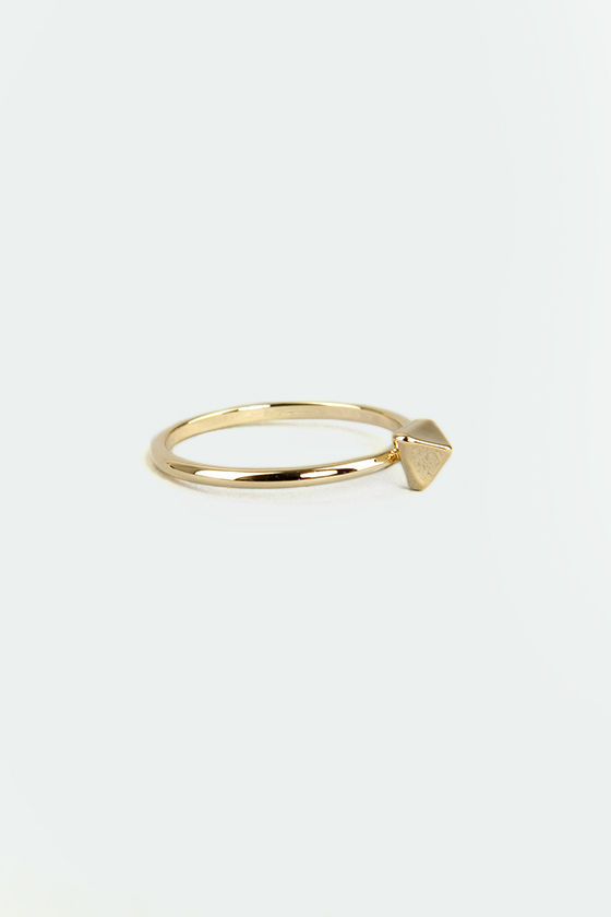 Stand Tri-al Gold Knuckle Ring at Lulus.com!