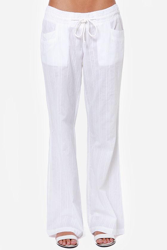 e7825faabb Billabong Coastline Wave Pants - White Pants - Lounge Pants - Beach ...