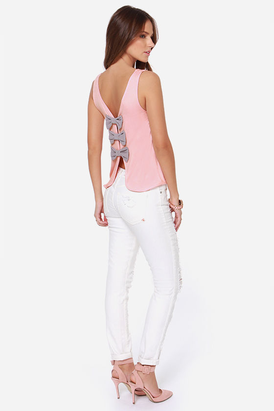 LULUS Exclusive Bows in a Row Light Pink Tank Top at Lulus.com!