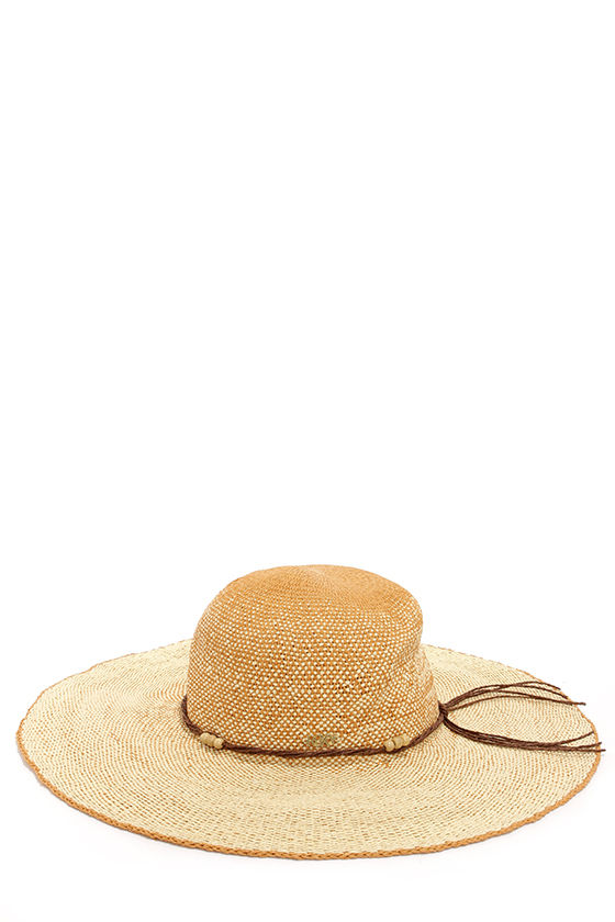Roxy By the Sea Beige Ombre Straw Hat at Lulus.com!