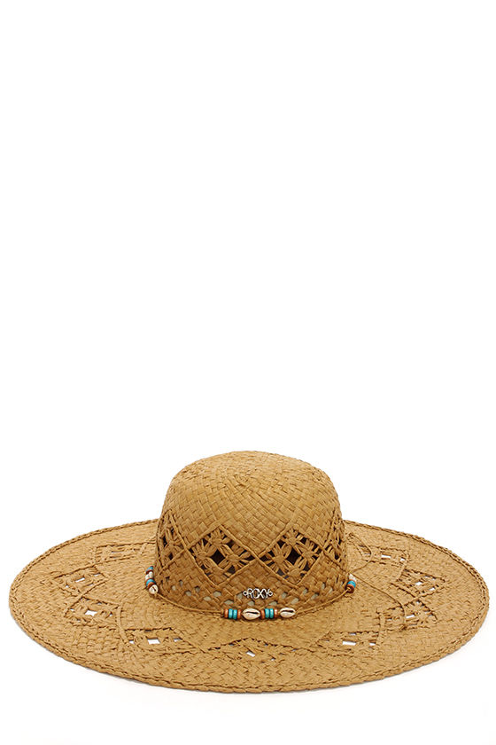 Roxy Shady Days Beaded Brown Straw Hat at Lulus.com!