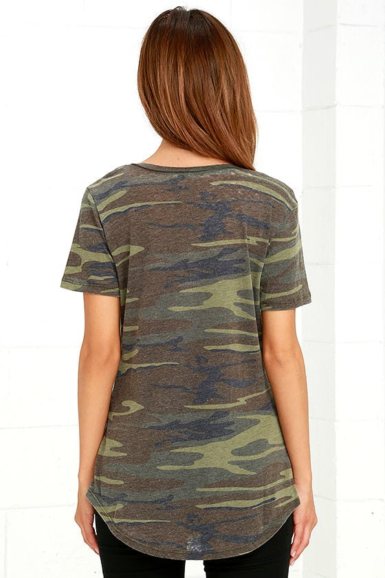 At Attention Green Camo Print Tee 4