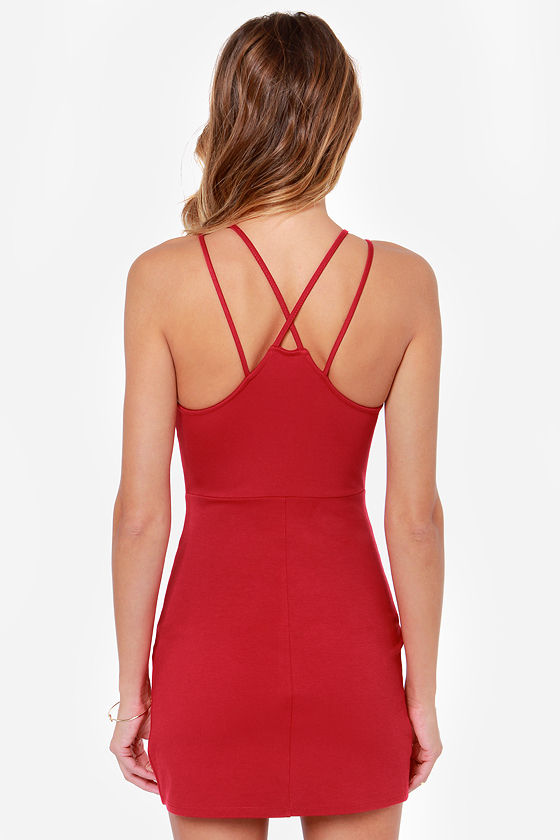 Strap Me Silly Red Bodycon Dress at Lulus.com!