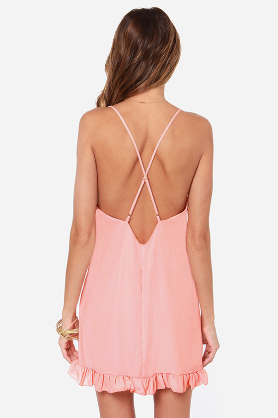 LULUS Exclusive Dream Scheme Peach Dress at Lulus.com!